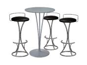 3 x PENHIR noir / 1 x BEAULIEU gris : ensemble de mobiliers en location