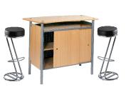 1 x BRIEUC bois / 2 x FREHEL noir : ensemble de mobiliers en location
