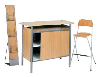 Ensemble de mobiliers en location : 1 x BRIEUC bois / 1 x SIZUN bois / 1 x MAINE bois