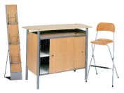 1 x BRIEUC bois / 1 x SIZUN bois / 1 x MAINE bois : ensemble de mobiliers en location