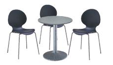 3 x AUBIN noir / 1 x CHAUSEY gris : ensemble de mobiliers en location