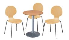 3 x AUBIN bois / 1 x CHAUSEY bois : ensemble de mobiliers en location