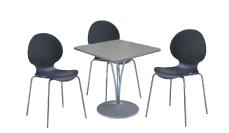 3 x AUBIN noir / 1 x BANNEC gris : ensemble de mobiliers en location