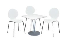 3 x AUBIN blanc / 1 x BANNEC blanc : ensemble de mobiliers en location