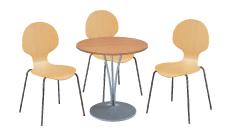 3 x AUBIN bois / 1 x AGOT bois : ensemble de mobiliers en location