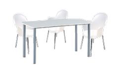 3 x BREST translucide / 1 x GLENAN blanc : ensemble de mobiliers en location