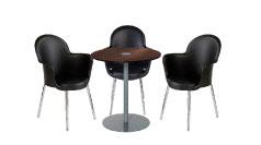 3 x BREST noir / 1 x BELLE ILE wengé : ensemble de mobiliers en location