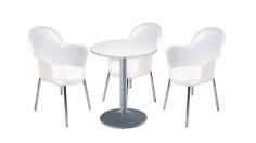 3 x BREST translucide / 1 x CHAUSEY blanc : ensemble de mobiliers en location