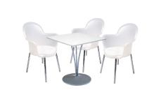 3 x BREST translucide / 1 x BANNEC blanc : ensemble de mobiliers en location
