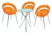 3 x SLIM orange / 1 x AURIGNY : ensemble de mobiliers en location