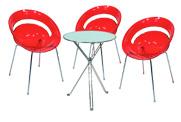 3 x SLIM rouge / 1 x AURIGNY : ensemble de mobiliers en location