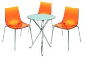 3 x TINA orange / 1 x AURIGNY : ensemble de mobiliers en location