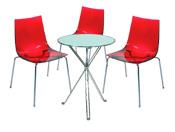 3 x TINA rouge / 1 x AURIGNY : ensemble de mobiliers en location