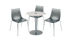 3 x TINA fumé / 1 x BELLE ILE blanc : ensemble de mobiliers en location