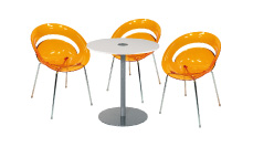 3 x SLIM orange / 1 x BELLE ILE blanc : ensemble de mobiliers en location