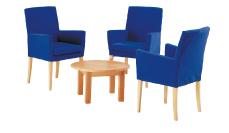 3 x MAYENNE bleu / 1 x MOLENE hêtre : ensemble de mobiliers en location