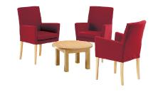 3 x MAYENNE bordeaux / 1 x MOLENE hêtre : ensemble de mobiliers en location