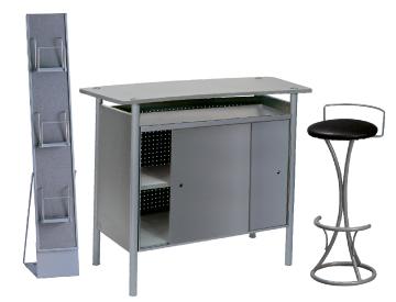 Ensemble de mobiliers en location : 1 x BRIEUC gris / 1 x PENHIR noir / 1 x MAINE gris