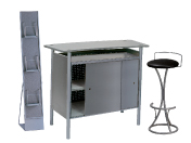 1 x BRIEUC gris / 1 x PENHIR noir / 1 x MAINE gris : ensemble de mobiliers en location