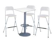 3 x SIZUN blanc / 1 x MALBAN blanc : ensemble de mobiliers en location