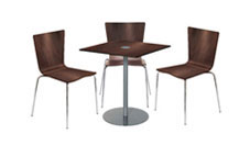 3 x PERROS wengé / 1 x EVEN wengé : ensemble de mobiliers en location