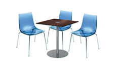 3 x TINA bleu / 1 x EVEN wengé : ensemble de mobiliers en location