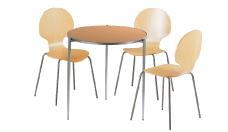3 x AUBIN bois / 1 x BREHAT bois : ensemble de mobiliers en location
