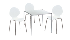 3 x AUBIN blanc / 1 x OUESSANT blanc : ensemble de mobiliers en location