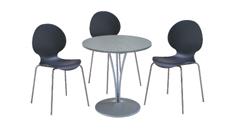 3 x AUBIN noir / 1 x AGOT gris : ensemble de mobiliers en location