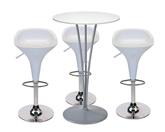 3 x BILE / 1 x BEAULIEU blanc : ensemble de mobiliers en location