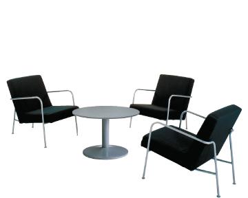 Ensemble de mobiliers en location : 3 x CLISSON noir / 1 x NOIRMOUTIER gris