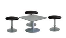 3 x CONCHE noir / 1 x HOEDIC gris : ensemble de mobiliers en location