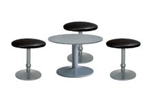 3 x CONCHE noir / 1 x NOIRMOUTIER gris : ensemble de mobiliers en location