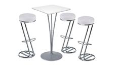 3 x FREHEL blanc / 1 x ARZAL blanc : ensemble de mobiliers en location