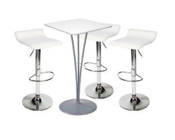 Ensemble de mobiliers en location : 3 x PAYRE blanc / 1 x ARZAL blanc