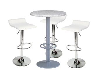 Ensemble de mobiliers en location : 3 x PAYRE blanc / 1 x MIQUELON
