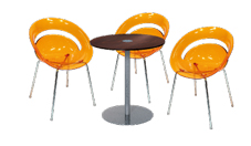 3 x SLIM orange / 1 x BELLE ILE wengé : ensemble de mobiliers en location