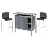 1 x BRIEUC gris / 2 x ERQUY noir : ensemble de mobiliers en location