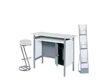 Ensemble de mobiliers en location : 1 x HERBLAIN blanc / 1 x FREHEL blanc / 1 x MAINE blanc