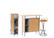 1 x NAZAIRE bois / 1 x PENHIR camel / 1 x POITOU : ensemble de mobiliers en location