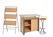 1 x PHILIBERT bois / 1 x PENHIR camel / 1 x ANJOU bois : ensemble de mobiliers en location