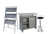 1 x PHILIBERT gris / 1 x PENHIR noir / 1 x ANJOU gris : ensemble de mobiliers en location
