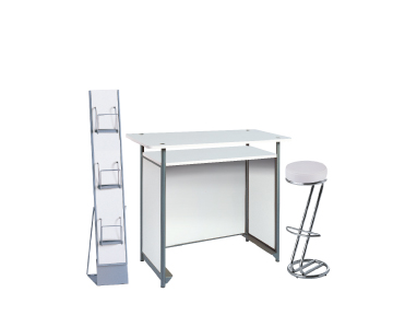 Ensemble de mobiliers en location : 1 x POL blanc / 1 x FREHEL blanc / 1 x MAINE blanc