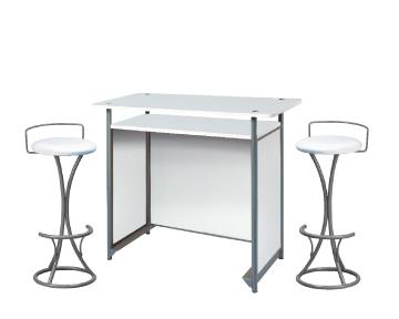Ensemble de mobiliers en location : 1 x POL blanc / 2 x PENHIR blanc