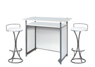 1 x POL blanc / 2 x PENHIR blanc : ensemble de mobiliers en location