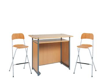 Ensemble de mobiliers en location : 1 x POL bois / 2 x SIZUN bois