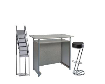 Ensemble de mobiliers en location : 1 x POL gris / 1 x FREHEL noir / 1 x VENDEE