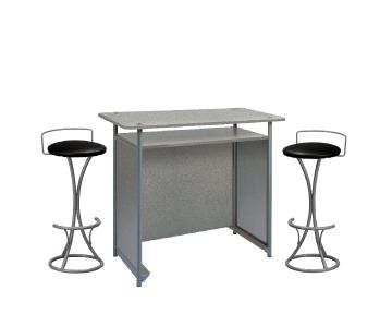 Ensemble de mobiliers en location : 1 x POL gris / 2 x PENHIR noir