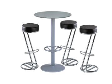 Ensemble de mobiliers en location : 3 x FREHEL noir / 1 x JERSEY gris