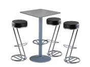 3 x FREHEL noir / 1 x MALBAN gris : ensemble de mobiliers en location